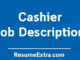 Cashier Job Description Sample