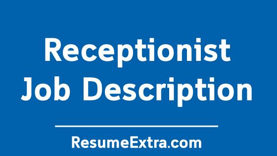 Receptionist Job Description Sample