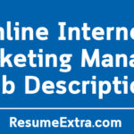 Online Internet Marketing Manager Job Description