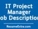 IT Project Manager Job Description Sample