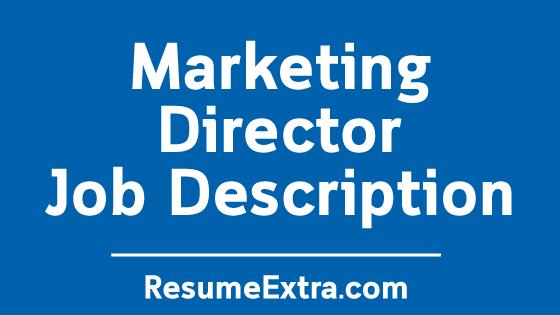 Marketing Director Job Description Sample