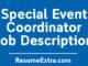 Special Event Coordinator Job Description Sample