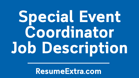 Special Event Coordinator Job Description Sample