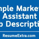 Sample Marketing Assistant Job Description