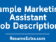 Sample Marketing Assistant Job Description