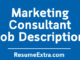 Marketing Consultant Job Description Sample