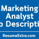 marketing analyst job description sample