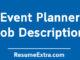 Event Planner Job Description Sample
