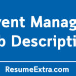 Event Manager Job Description Sample