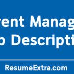 Event Manager Job Description Sample