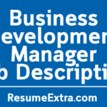 Business Development Manager Job Description Sample