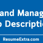 Brand Manager Job Description Sample