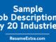 Best Sample Job Descriptions by 20 Industries
