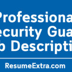 Professional Security Guard Job Description Sample