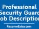 Security Guard Job Description Sample