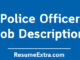 Police Officer Job Description Sample