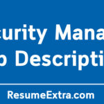 Security Manager Job Description Sample