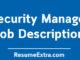 Security Manager Job Description Sample