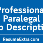Professional Paralegal Job Description Sample
