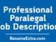 Paralegal Job Description Sample