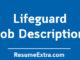 Life Guard Job Description Sample