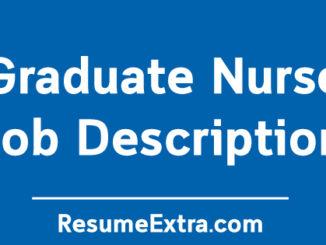 Graduate Nurse Job Description Sample