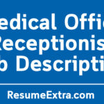 Medical Office Receptionist Job Description Sample