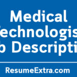 Medical Technologist Job Description Sample