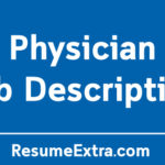 Physician Job Description Sample
