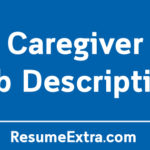 Caregiver Job Description Sample