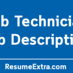 Lab Technician Job Description Sample