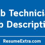 Lab Technician Job Description Sample