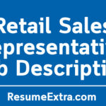 Retail Sales Representative Job Description Sample