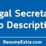 Legal Secretary Job Description Sample