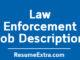 Law Enforcement Job Description Sample