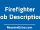 Firefighter Job Description Sample