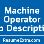 Machine Operator Job Description Sample