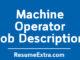 Machine Operator Job Description Sample