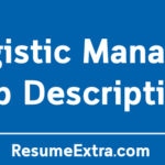 Logistic Manager Job Description Sample