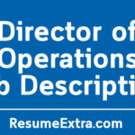 Director Of Operations Job Description Sample