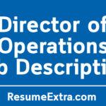 Director Of Operations Job Description Sample