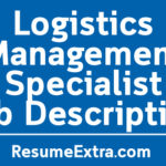 Logistics Management Specialist Job Description Sample