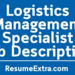 Logistics Management Specialist Job Description Sample