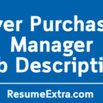 Buyer Purchasing Manager Job Description Sample