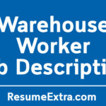 Warehouse Worker Job Description Sample