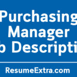 Purchasing Manager Description Sample