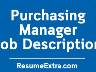 Purchasing Manager Description Sample