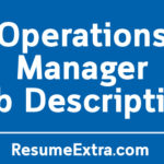 Operations Manager Job Description Sample