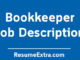 Bookkeeper Job Description Sample