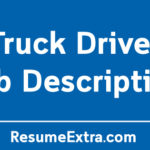 Truck Driver Job Description Sample